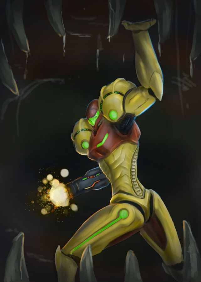 Metroid - Samus Aran Charge-Beam by Dinoforce