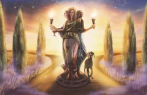 The Goddess Hekate Illustration