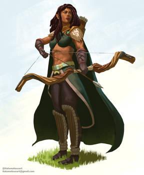 Half-Elf Ranger character commission