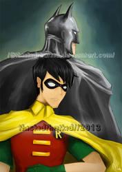 Batman and Robin by thiskidthatkid
