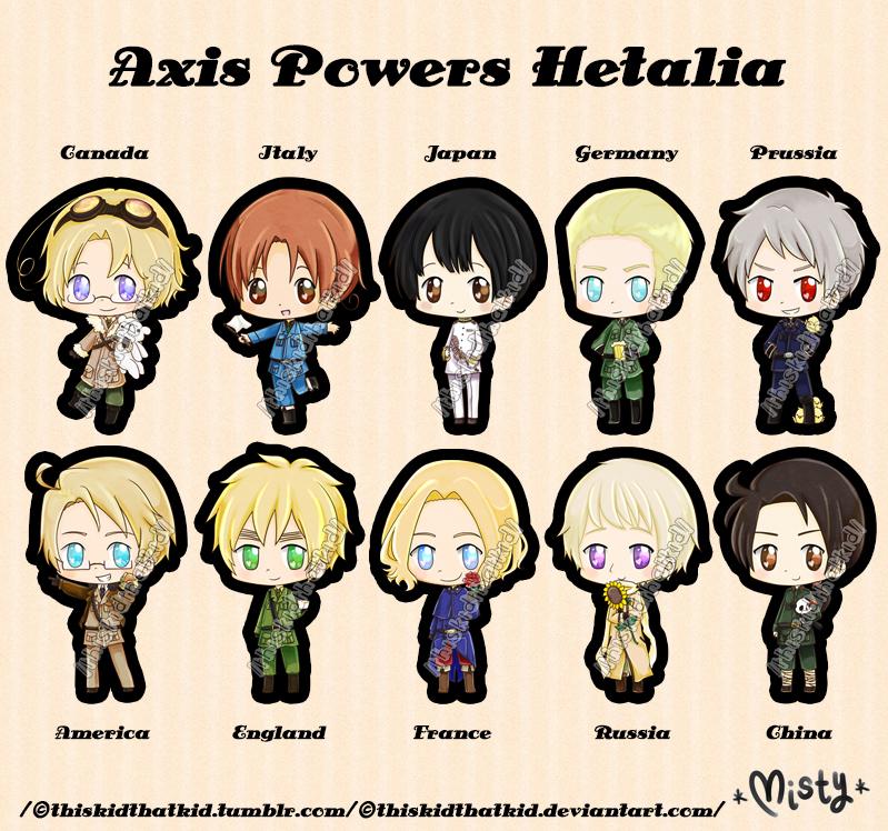 Axis Powers Hetalia Chibis by thiskidthatkid