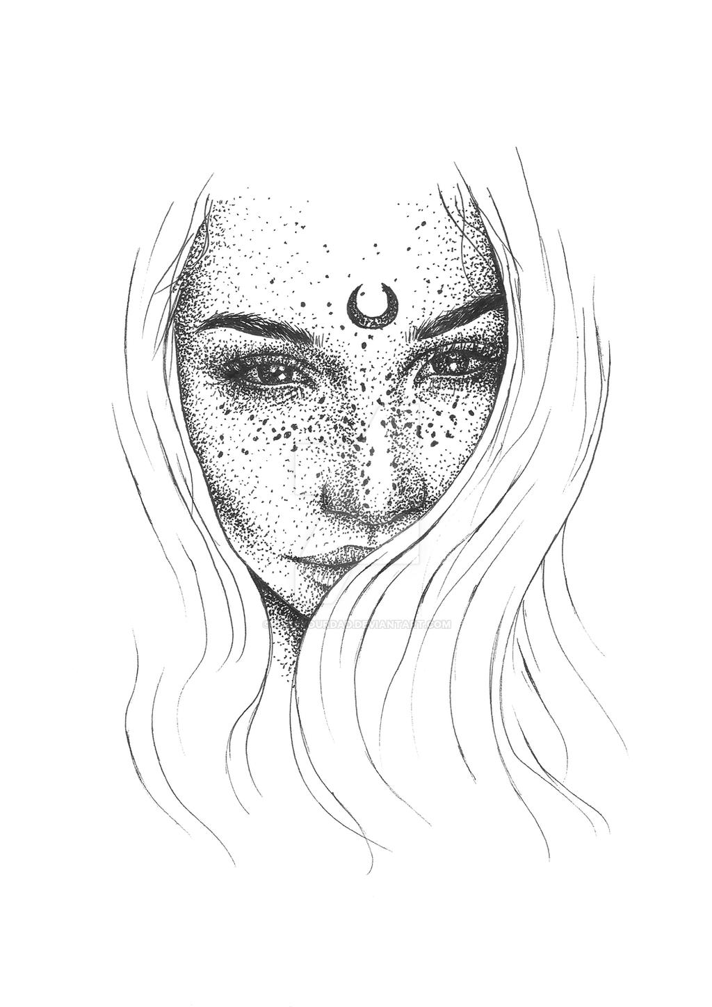 how to draw dots on face