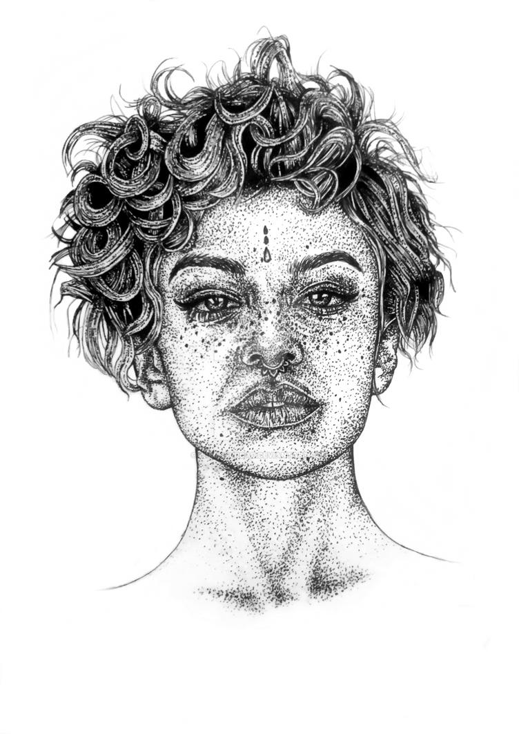 Dot Art Stipple Stippling Portrait By Ilikeyourdad On Deviantart