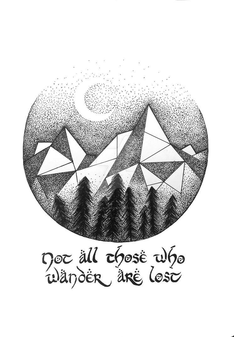 Lord Of The Rings Mountains Quote