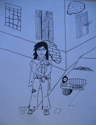PostApo Girl on street