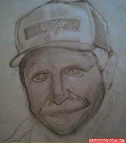 Dale Earnhardt -sketch w.i.p- by Gemini58