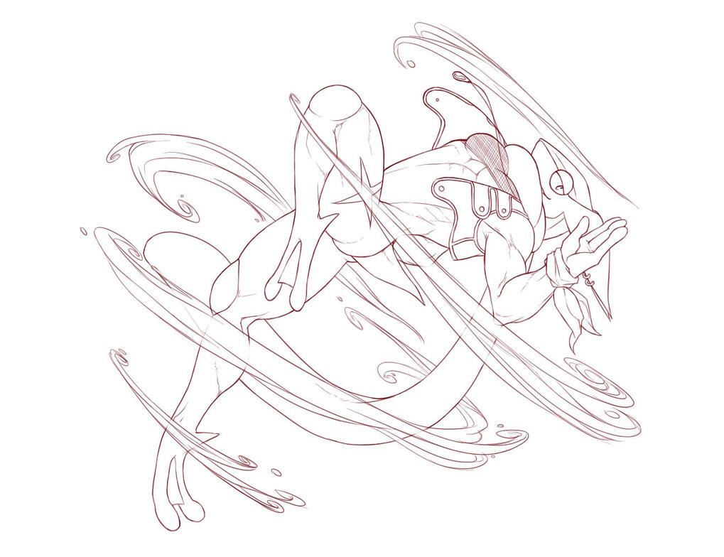 Greninja stealing yo cake by algong on deviantart for Coloring pages of greninja