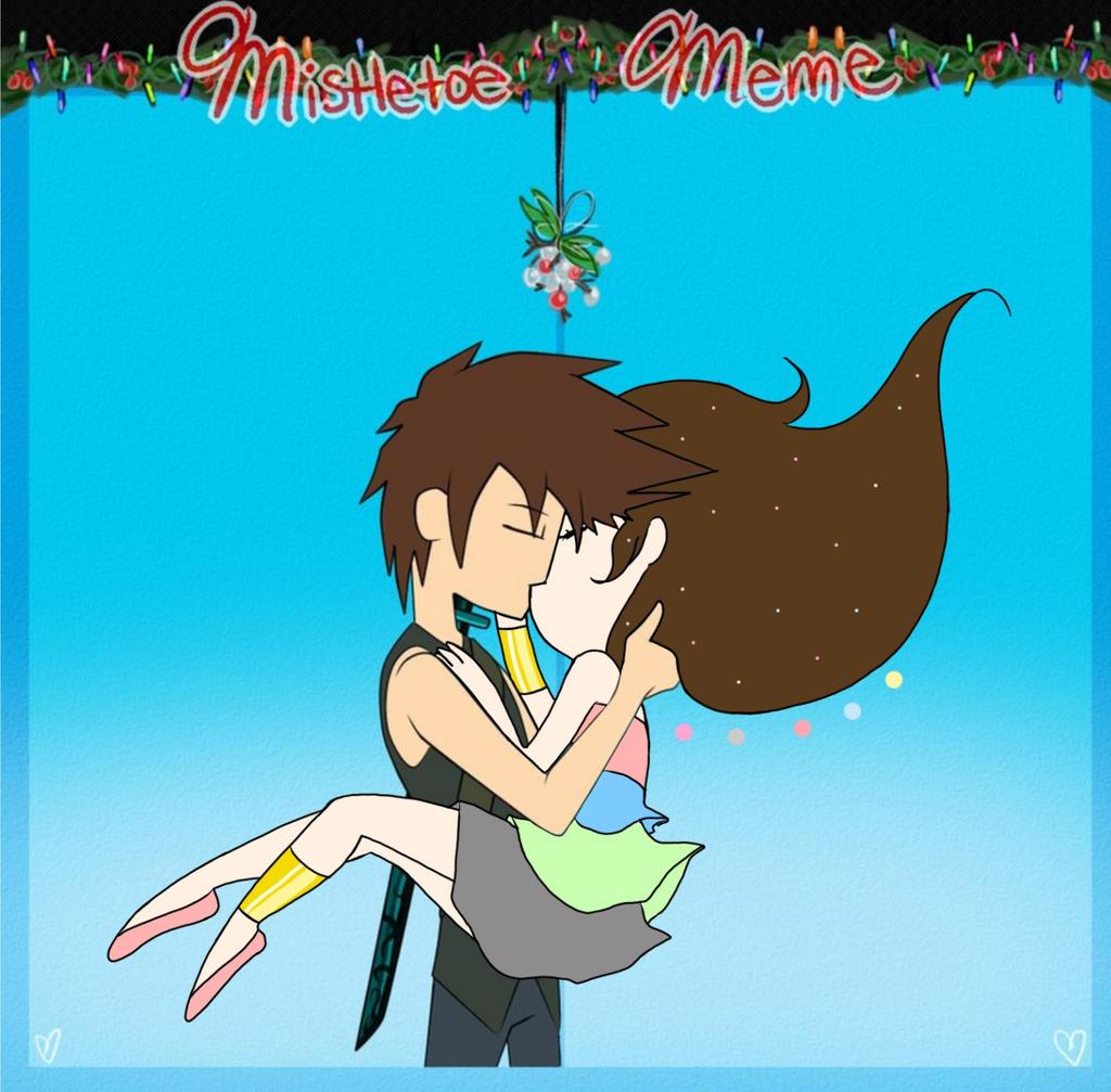Mistletoe meme universe p ft ron by MilkyMichi