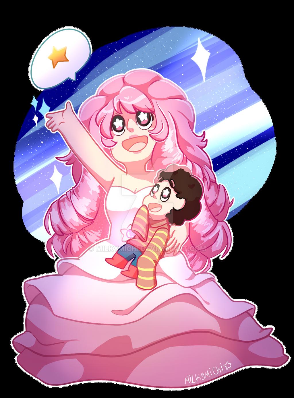 Steven And Rose by MilkyMichi on DeviantArt