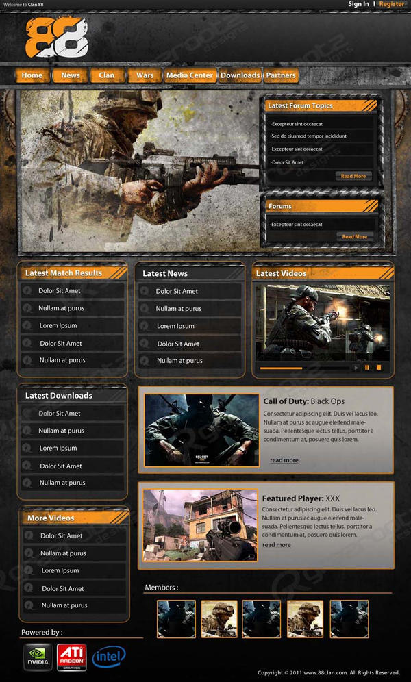 COD clan site template by grazrootz on DeviantArt