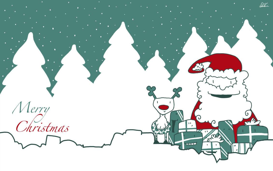 Santa and rudolf wallpaper by arobeddy on deviantart - Rudolf mobel ...