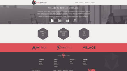Flax storage template by pdesign97