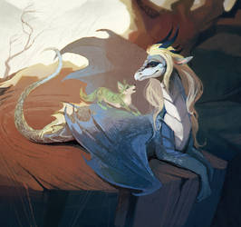 the dragon and the wolf by DearMary