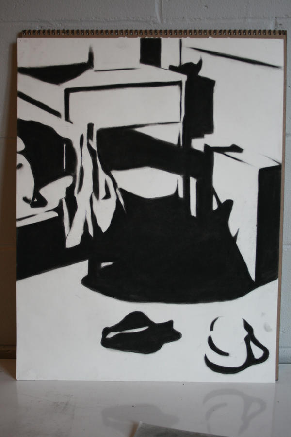 positive negative space by scanidc on DeviantArt Negative Space Drawing Still Life