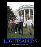Obama and his Lightsaber by PyroDarkfire