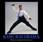 Samurai Obama Motivator by PyroDarkfire