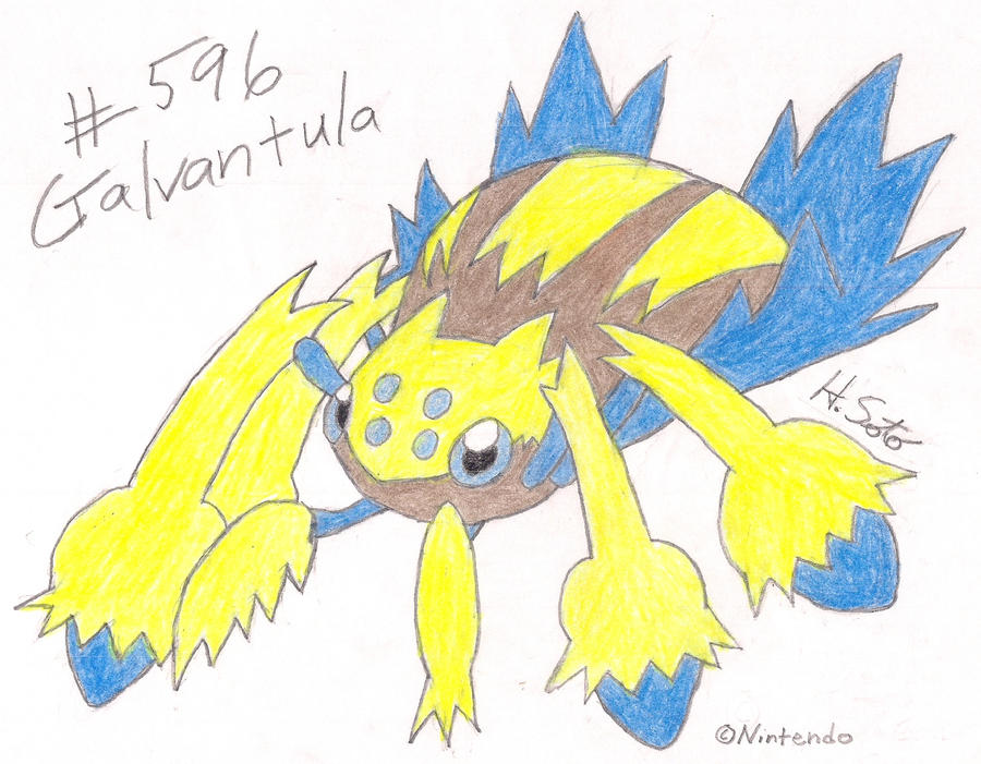 Project BW #596 Galvantula by PyroDarkfire