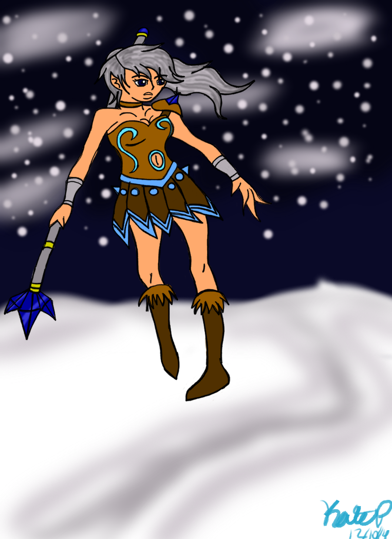 Ice viking on top by LittleWhiteAngelWolf