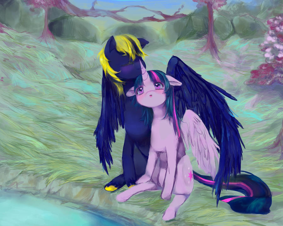 Commission for Zephyr: soothing embrace by Subiculum