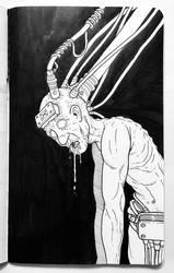 Inktober 2018 - Brain Death by superleezard