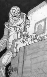 Inktober 2018 - The Nightwatchman by superleezard