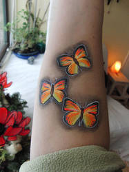 Butterflies with neon paint by EerinVink