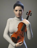Violin Pose by Protozoon75