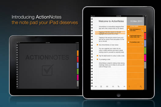 ActioNotes iPad app