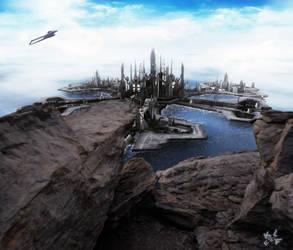 Rocks over Atlantis by EpicKLF