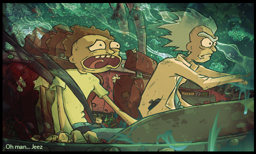Rick and Morty by Therlam