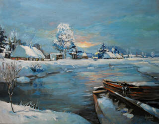 Polish Winter's Landscape by painter84