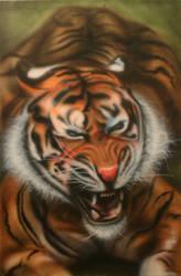 tiger airbrush by b-r-a-i-n-i