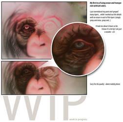WIP - chimpanzee by b-r-a-i-n-i