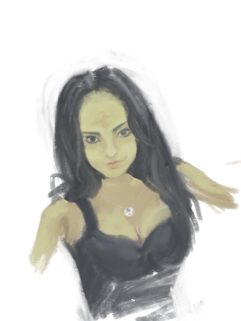 nastja, 10min sketch by b-r-a-i-n-i