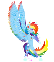 Rainbow Power Rainbow Dash by VanillaSwirl6