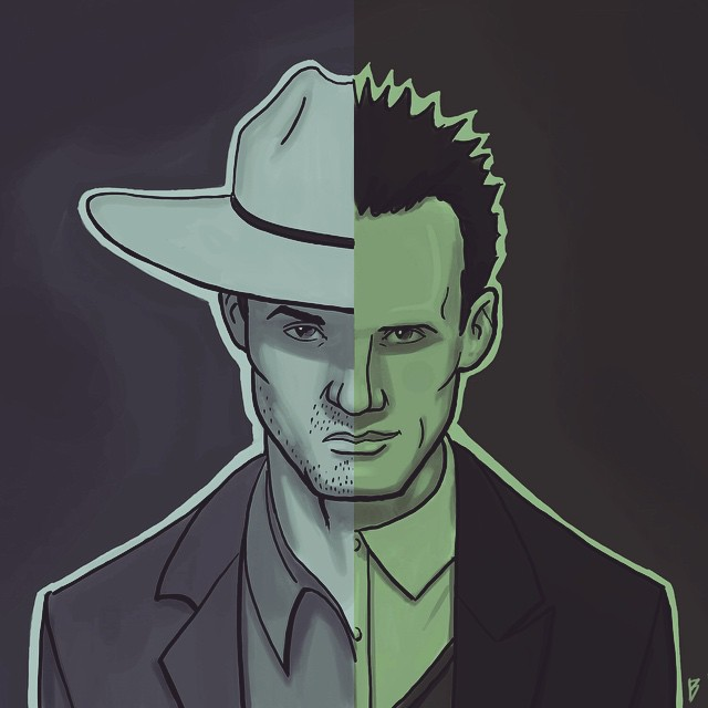 250216fd1225c Raylan Givens and Boyd Crowder from Justified by barez-mardukhi on ...
