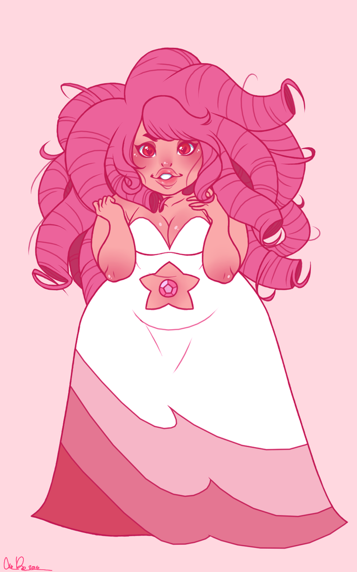 Wasn't super happy with my last Rose and wanted to give it another go. Rose Quartz belongs to Steven Universe