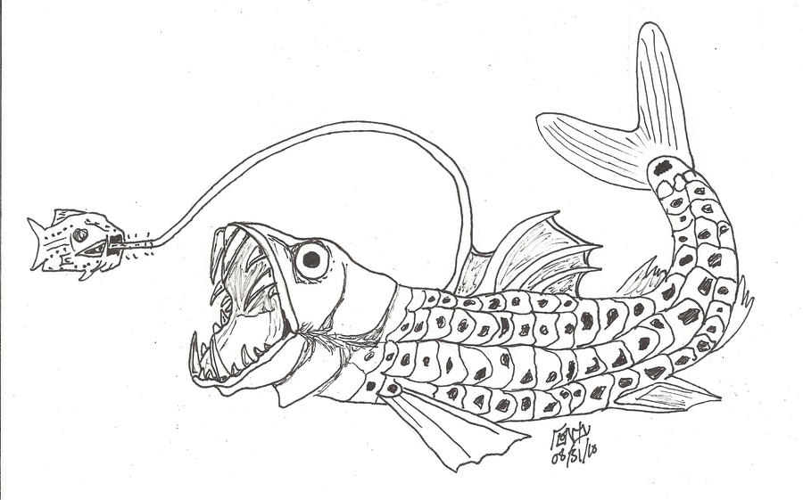 viper coloring pages - viperfish by londonbridges on deviantart