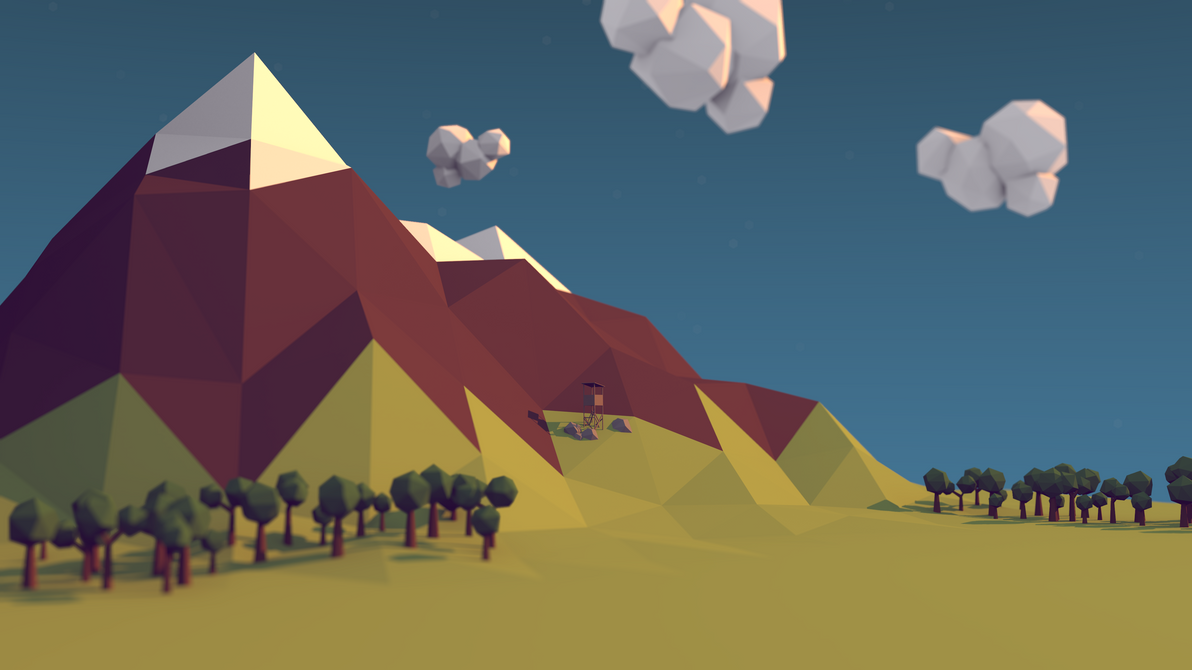 Low poly mountain with watchtower by benneyboy444 on deviantart low poly mountain with watchtower by benneyboy444 baditri Choice Image