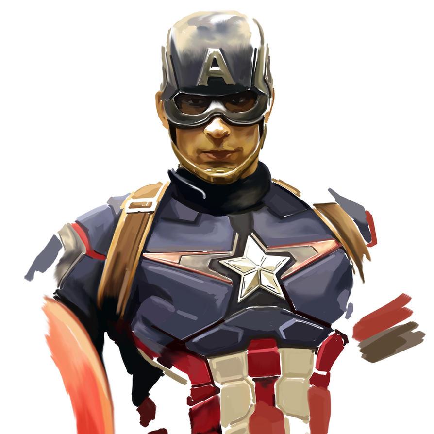Chris Evans as Captain America by danomano65
