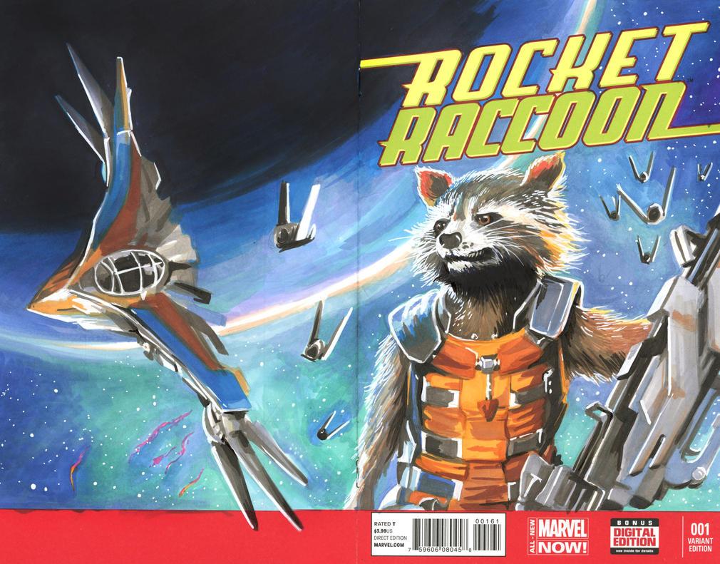 Rocket Raccoon Issue 1 Sketch Cover by danomano65