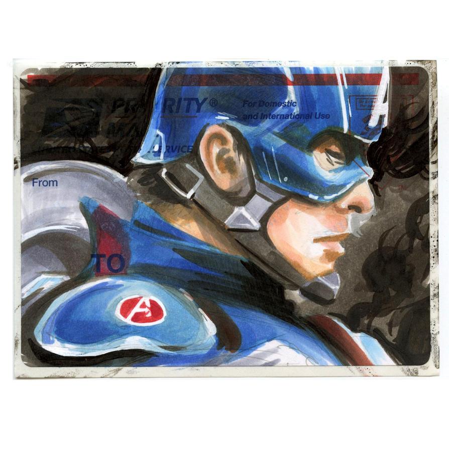 Captain America on a 228 by danomano65