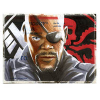 Copic Nick Fury on a 228.