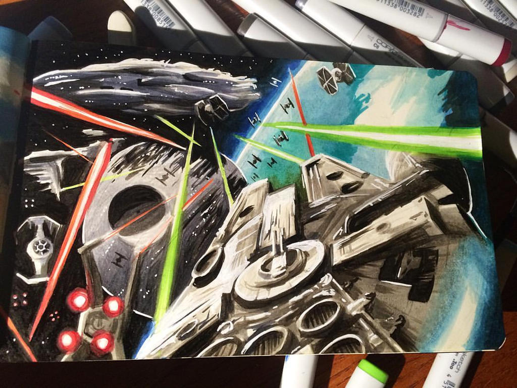 Star Wars Daily Sketch 13 by danomano65