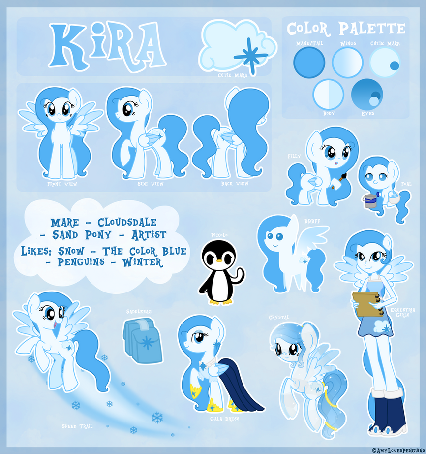 Kira's Complete Reference Sheet by AmyLovesPenguins