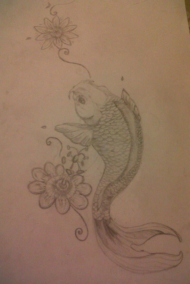 coy carp tattoo designs