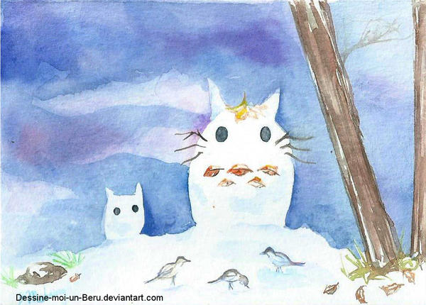 Snow Totoro by Dessine-moi-un-Beru