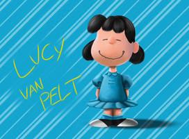 Peanuts-Lucy van Pelt by SilentCartoonist