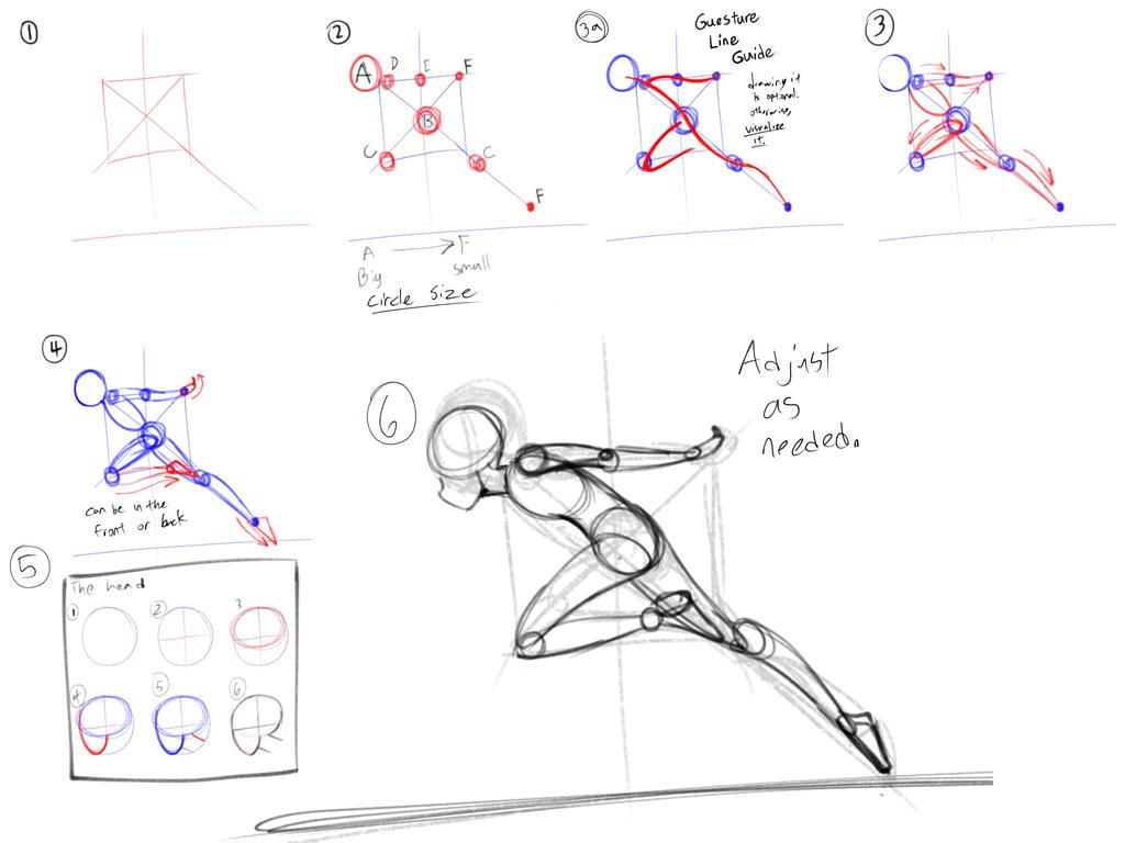 Tutorial: How To Draw A Running Ninja Pose By Silentcartoonist