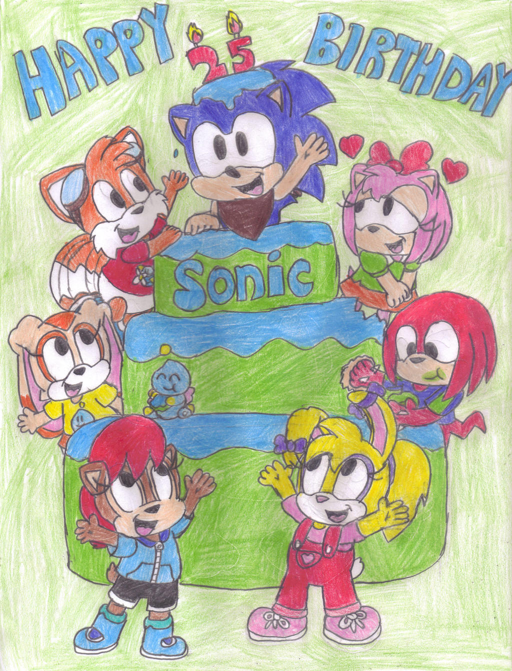 Happy Birthday Sonic The Hedgehog By Sparksechidna On Deviantart